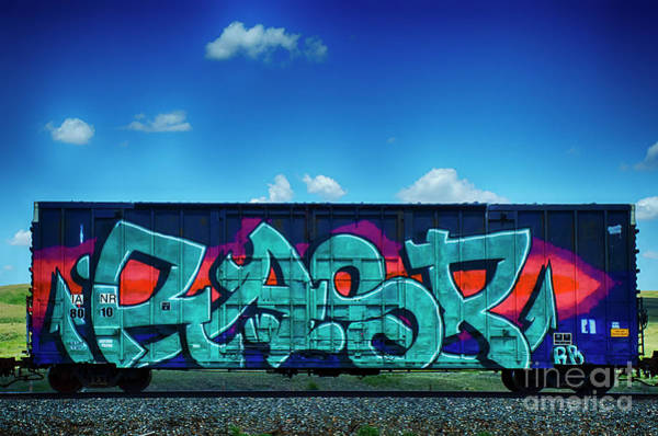 Wall Art - Photograph - Graffiti Riding The Rails 11 by Bob Christopher