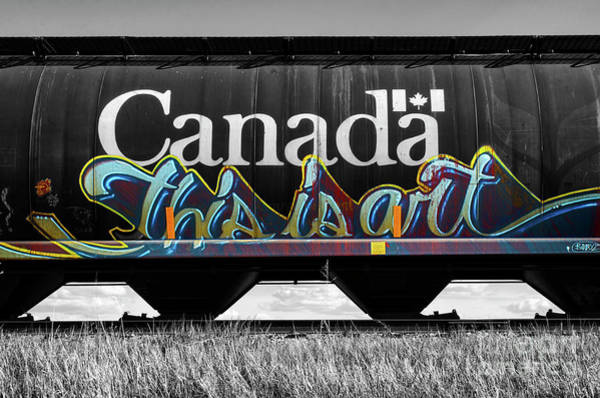 Wall Art - Photograph - Graffiti Riding The Rails 13 by Bob Christopher