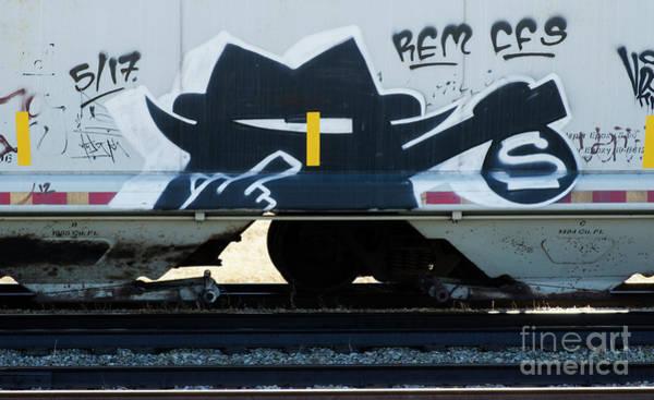 Wall Art - Photograph - Graffiti Riding The Rails 4 by Bob Christopher