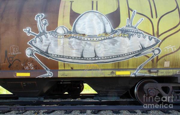 Wall Art - Photograph - Graffiti Riding The Rails 45 by Bob Christopher