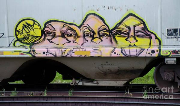Wall Art - Photograph - Graffiti Riding The Rails 7 by Bob Christopher