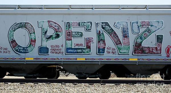 Wall Art - Photograph - Graffiti Riding The Rails 8 by Bob Christopher