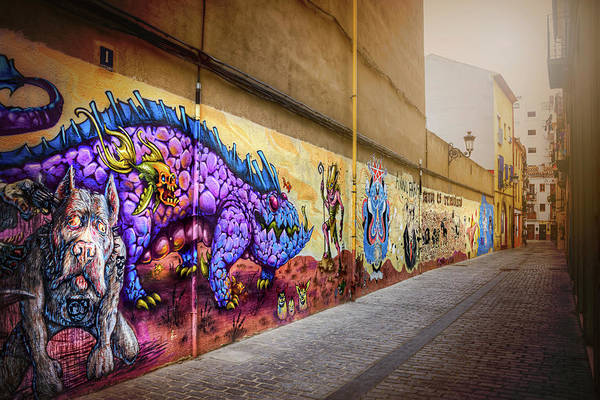 Wall Art - Photograph - Graffiti Street In Valencia Spain  by Carol Japp