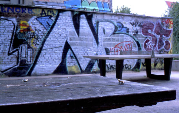 Photograph - Graffiti Table by Nacho Vega