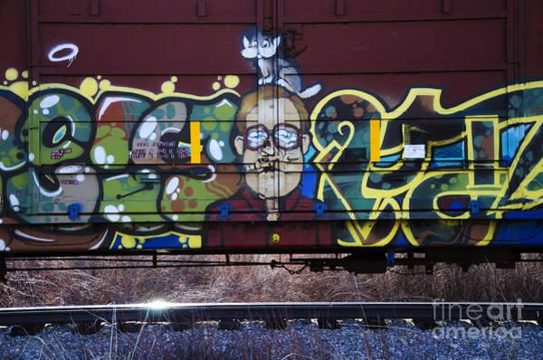 Wall Art - Photograph - Grafitti Art Riding The Rails 10 by Bob Christopher
