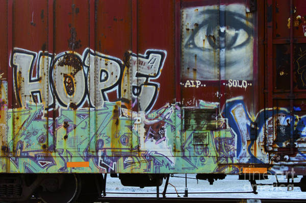Wall Art - Photograph - Grafitti Art Riding The Rails 6 by Bob Christopher