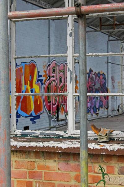 Photograph - Grafitti Through Window by Tony Murtagh