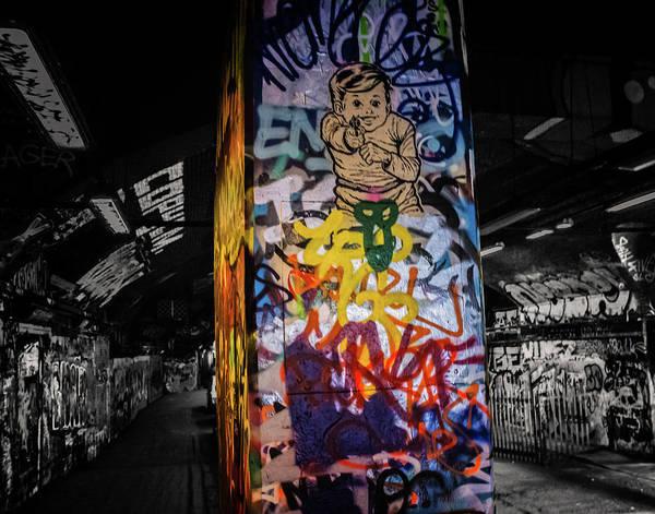 Ink Sketch Photograph - Grafitti Tunnel by Martin Newman