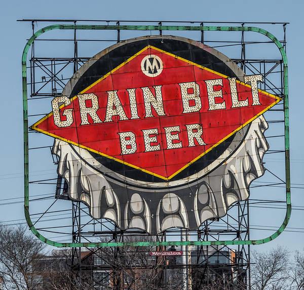 Wall Art - Photograph - Grain Belt Beer Sign by Paul Freidlund