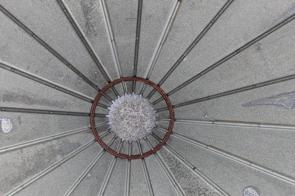 Wall Art - Photograph - Grain Bin Gray by Weathered Wood