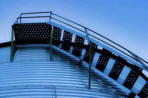 Photograph - Grain Bin Stair 4321 H_2 by Steven Ward