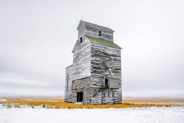 Photograph - Grain Elevator On White by Todd Klassy