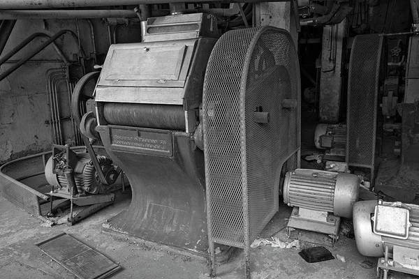 Photograph - Grain Equipment Black And White by Dave Dilli
