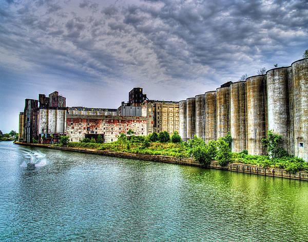 Wall Art - Photograph - Grain Silos On The Buffalo River by Tammy Wetzel