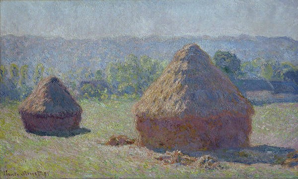 Barley Painting - Grainstacks At The End Of Summer, Morning Effect, 1891 by Claude Monet