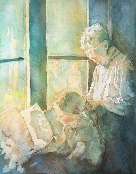 Grandma Wall Art - Painting - Gramdma Braids by Jenny Armitage
