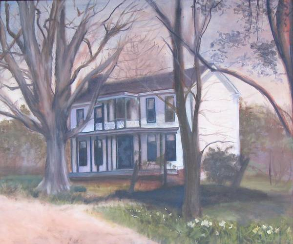 Wall Art - Painting - Grammy's Farmhouse by Susan Brooks
