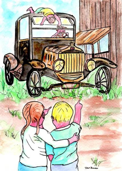 Painting - Gramps Old Jalopy by Philip Bracco