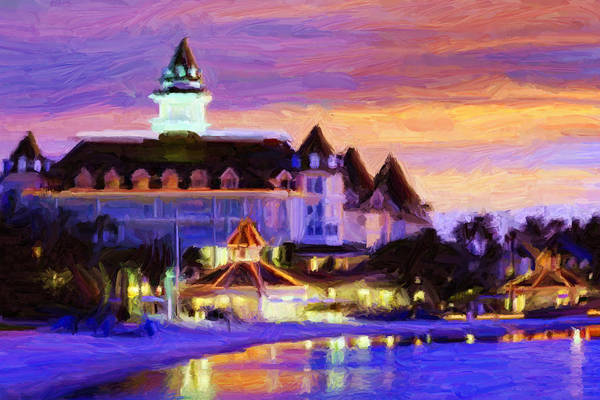 Disney World Digital Art - Grand Floridian by Caito Junqueira