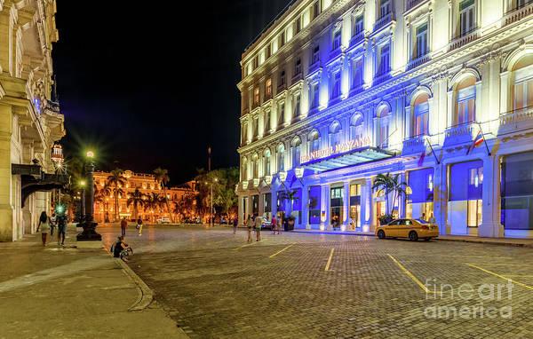 Manzana Wall Art - Photograph - Gran Hotel Manzana At Night by Viktor Birkus
