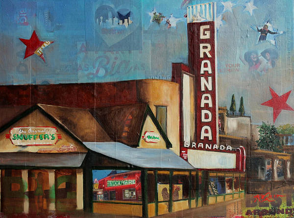 Lone Star Painting - Granada Theater IIi by Katrina Rasmussen