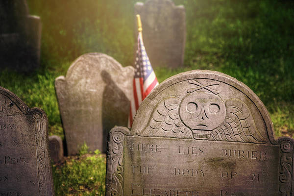 Cemetaries Wall Art - Photograph - Granary Burying Ground Boston  by Carol Japp