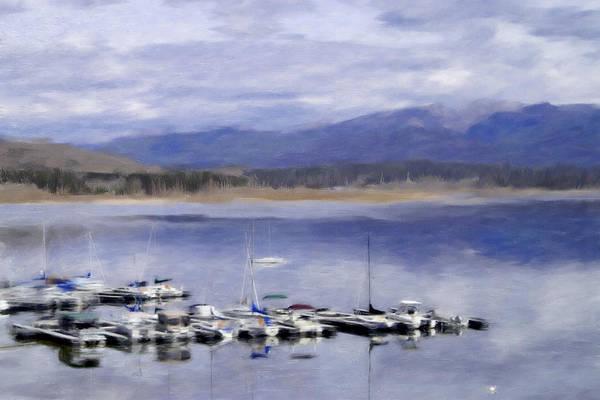 Lake Granby Wall Art - Painting - Granby Lake Marina by Renee Skiba