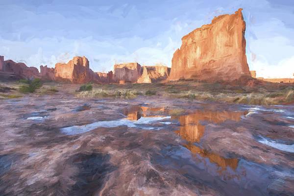 Beautiful Sunrise Digital Art - Grand Arches IIi by Jon Glaser