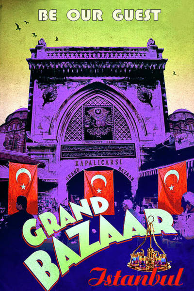Istanbul Painting - Grand Bazaar, Istanbul, Turkey by Long Shot