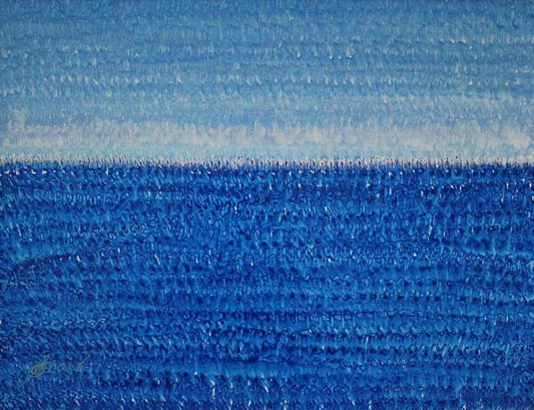Painting - Grand Blue Original Painting by Sol Luckman