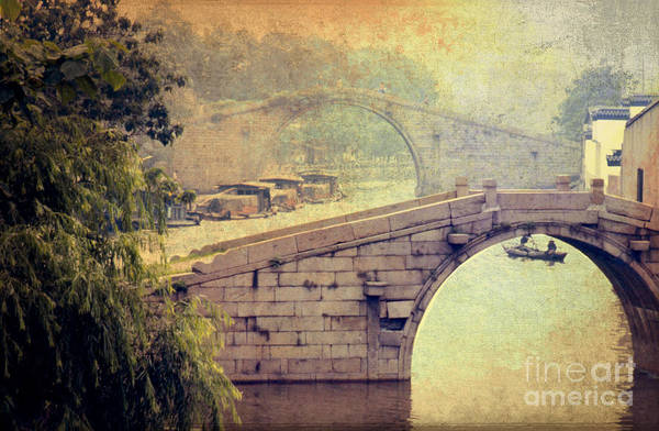 Photograph - Grand Canal Bridge Suzhou by Heiko Koehrer-Wagner