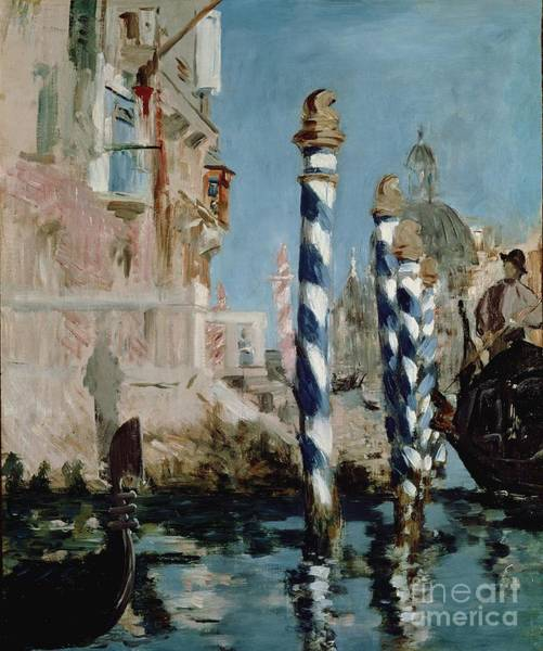 Mooring Painting - Grand Canal by Edouard Manet