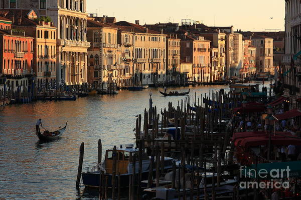 Wall Art - Photograph - Grand Canal In Venice From The Rialto Bridge by Michael Henderson