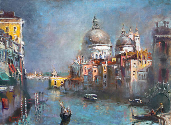 Golden Gate Bridge Painting - Grand Canal Venice 2 by Ylli Haruni