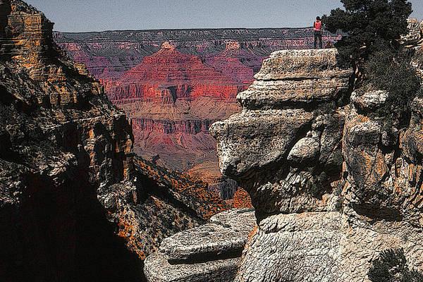 Painting - Grand Canyon Arizona - Photo Art Illustration by Peter Potter