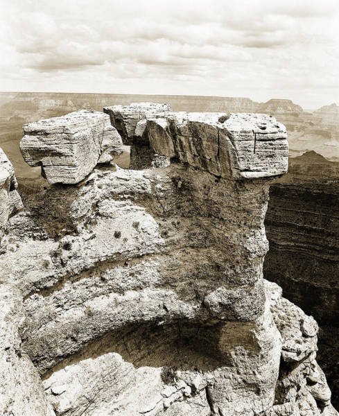 Photograph - Grand Canyon Arizona Fine Art Photograph In Sepia 3538.01 by M K Miller