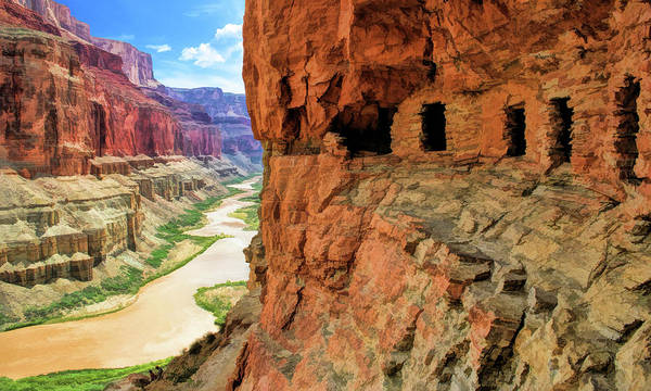 Painting - Grand Canyon Cliff Granaries by Christopher Arndt