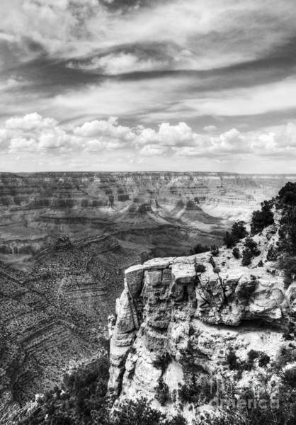 Photograph - Grand Canyon Clouds Bw by Mel Steinhauer