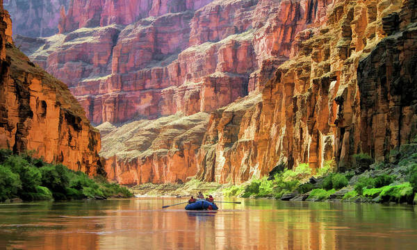 Painting - Grand Canyon Colorado River Rafting by Christopher Arndt