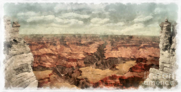 Wall Art - Painting - Grand Canyon by Edward Fielding