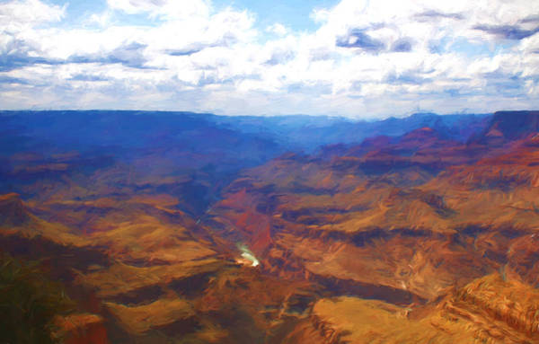 Photograph - Grand Canyon Impressionistic by Ola Allen