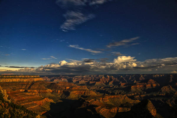 Photograph - Grand Canyon Moonlight by James Menzies