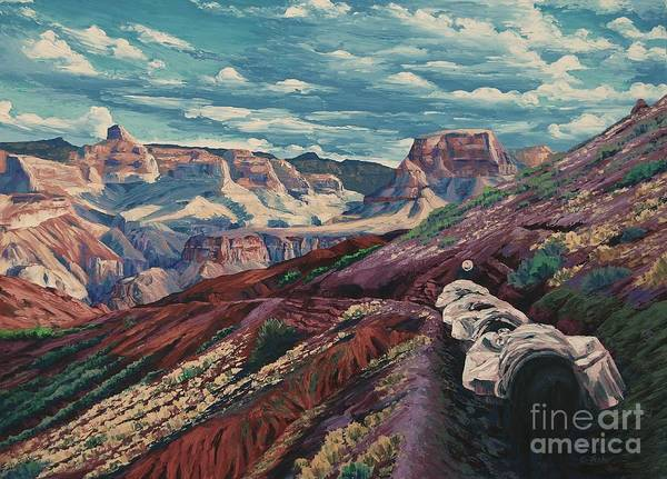 Painting - Grand Canyon Mule Skinners by Cheryl Fecht