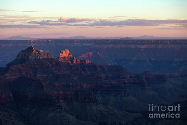 Wall Art - Photograph - Grand Canyon North Rim At Sunset by Diane Diederich