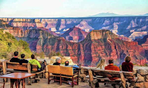Painting - Grand Canyon North Rim Lodge View by Christopher Arndt