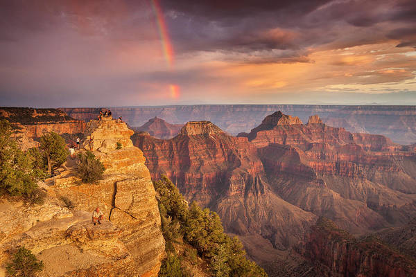 Grand Canyon North Rim Rainbow Art Print