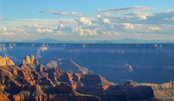 Photograph - Grand Canyon North Rim Sunset San Francisco Peaks by Victoria Oldham