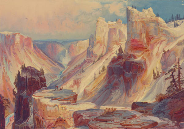 Yellowstone Canyon Photograph - Grand Canyon Of Yellowstone, Yellowstone National Park 1876 by Ricky Barnard