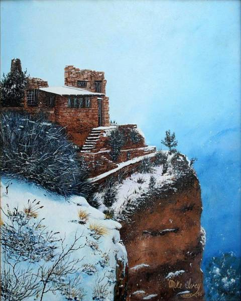 Painting - Grand Canyon Overlook by Mike Ivey