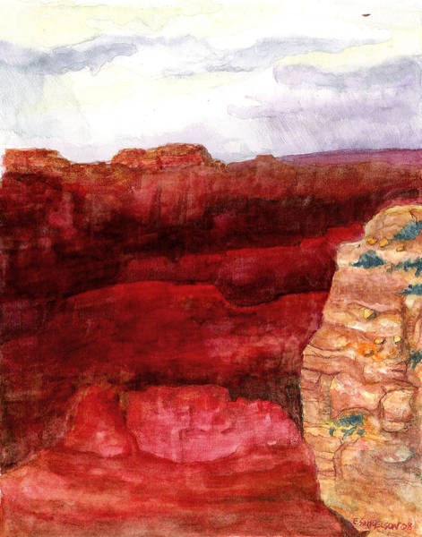 Painting - Grand Canyon S Rim by Eric Samuelson
